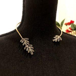 Banana Republic Jewelry - Banana Republic Hammered Open Collar Necklace